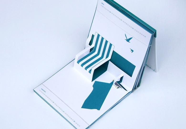 2010 július naptár Popup naptár   Csomagolás   Sakál Design   csomagolástervezés  2010 július naptár