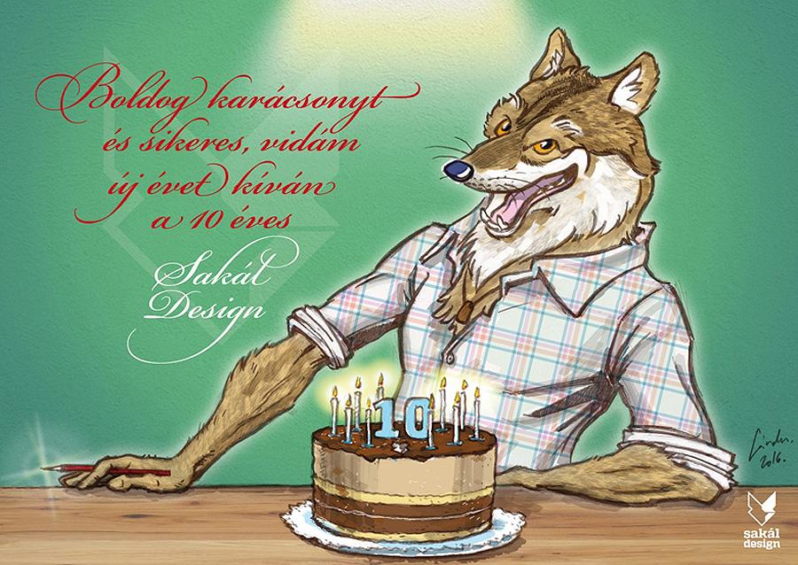 egyedi születésnapi képeslap Születésnapi képeslap   Illusztráció   Sakál Design   rajz  egyedi születésnapi képeslap
