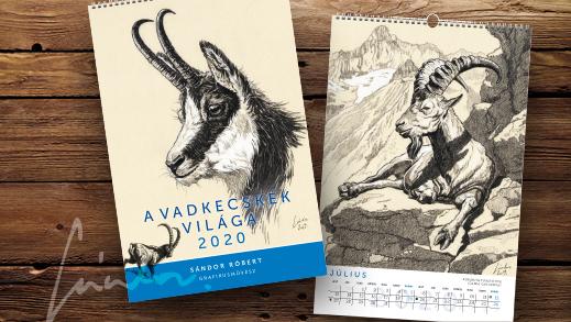 A vadkecskék világa 2020 – falinaptár